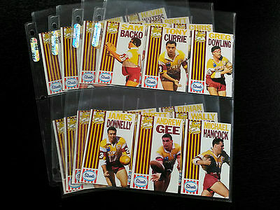 1990 The Sunday Mail - Streets Brisbane Broncos Full Set Including Wild Card!