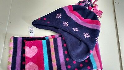 girls hat and scarf set aged 1-3