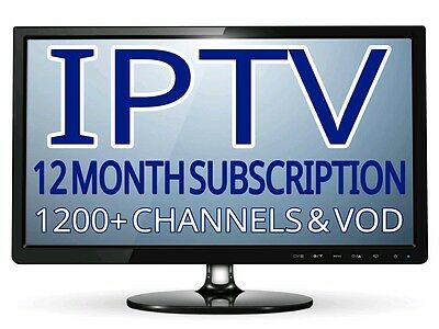 IPTV 12 Month Gift Sub Warranty (1200+ Chan) VOD, *MAG*ANDROID*M3U*SMART TV*