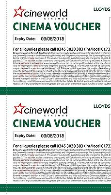 6 x Cineworld cinema tickets **instant delivery via email**