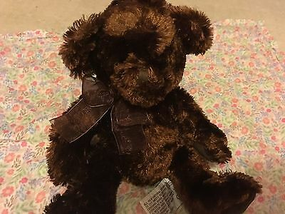 "Russ Bears 'delicious Chocolate' 8.5"" Cuddly Toy Russell Beanie Bear"