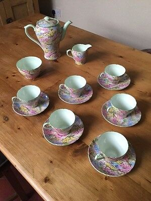 Shelly Rock Garden tea/coffee fine bone china service - immaculate condition