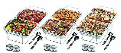 High Quality 24Pieces Disposable Catering Buffet Food Serving Set