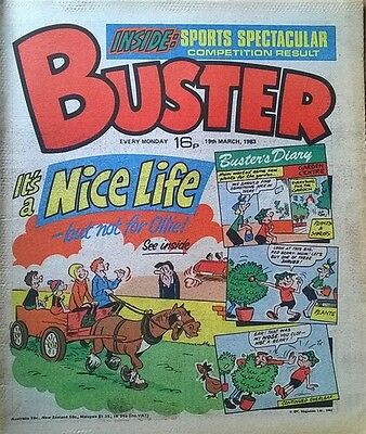 Buster Comic - 19th March 1983 - Birthday Present