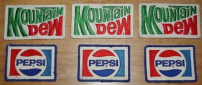 Vintage Pepsi Mountain Dew Driver Uniform Delivery Patches Lot of 6