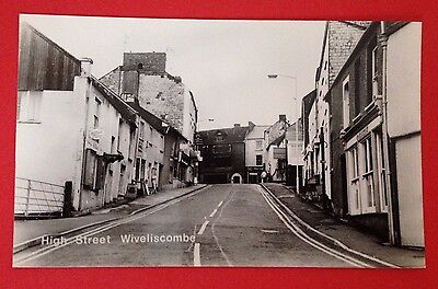 Somerset - Wiveliscombe, High Street, RP PC, Unused, Shops and Houses