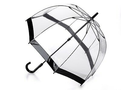 Fulton Birdcage Clear Dome Umbrella with Black Trim