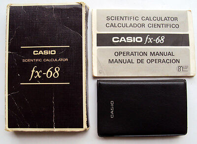 Casio FX-68 Vintage Scientific Calculator Made in Japan +Manual