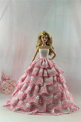 Fashion Handmade Princess Dress Wedding Clothes Gown for Barbie Doll L01