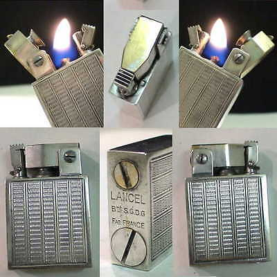 BRIQUET Ancien LANCEL ROYAL French Automatic Fuel LIGHTER Feuerzeug Accendino