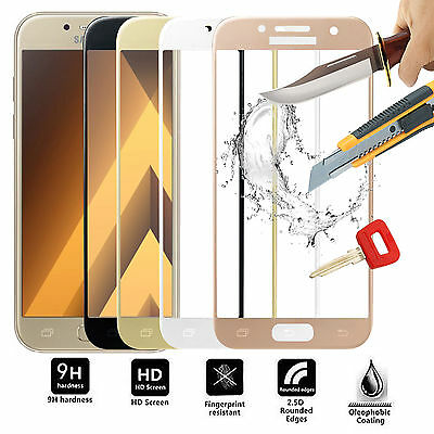 3D FULL Tempered Glass Screen Protector For Samsung Galaxy A3 A5 J3 J5 J7 S8 S9