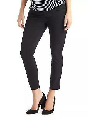 NWT GAP MATERNITY sz 4 DEMI PANEL SKINNY ANKLE PANTS