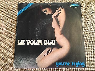 "LE VOLPI BLU - YOU'RE TRYING 45 Giri 7"" RARO Vinile 1977 NO LP"