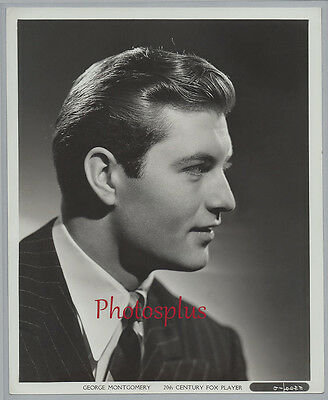 Vintage 1942 GEORGE MONTGOMERY Superb 20th Century FOX 8x10 Handsome PORTRAIT
