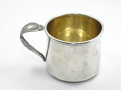 ROGERS STERLING SILVER BABY/ CHILD CHRISTENING CUP BRIDAL VEIL SPOON HANDLE 57g