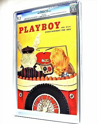 Playboy April 1957 | CGC 9.2 Near Mint - | Elaine Conte