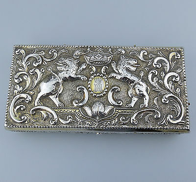 Antique Solid Silver EXTREMELY RARE Victorian sterling Judaica Box - London 1884