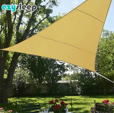 AMAZING 3.6m LARGE TRIANGLE SHADE SAIL JUST £14.99 Delivered