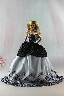 Fashion Handmade Princess Dress Wedding Clothes Gown for Barbie Doll L29