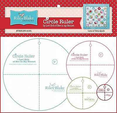"CIRCLE RULER PACK WITH 2-1/2""/4""/6""/9"" RULERS, from Riley Blake Designs, *NEW*"