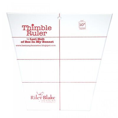 """10"""" THIMBLE RULER, from Riley Blake Designs, *NEW*"""