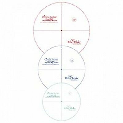 """CIRCLE RULER PACK 8""""-10""""-12"""", from Riley Blake Designs, *NEW*"""