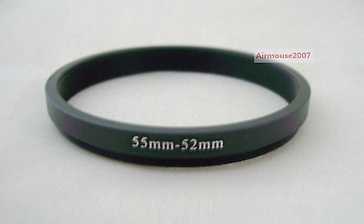 55-52 55mm-52mm Step Down Ring Adapter 55mm Lens To 52mm Accessory Filter Hood