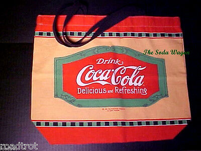 Coca-Cola TM Brand Tote Bag - Vintage Sign Design - Dated 1991 - New