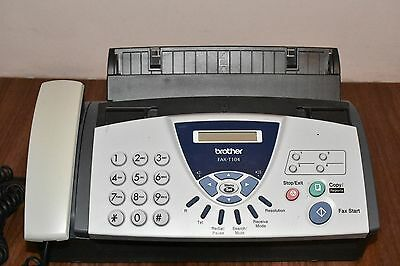 Brother FAX-T104 fax machine/telephone in perfect working order with new leads.