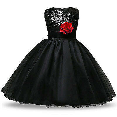 Flower Girl Princess Pageant Wedding Party Formal Birthday Kids Dress Size 8-10