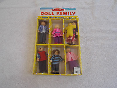 Melissa & Doug wooden doll family set of 7 new sealed