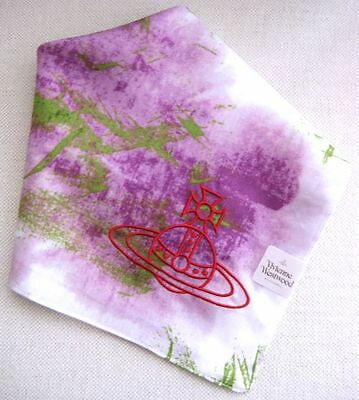 BRAND NEW Vivienne Westwood 'IOU' Flying Orb Embroidery Handkerchief