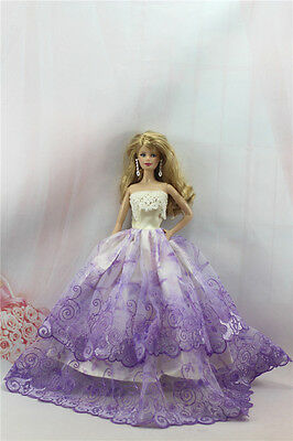Fashion Handmade Princess Dress Wedding Clothes Gown for Barbie Doll L71