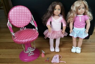 bundle of our generation dolls & hair styling chair