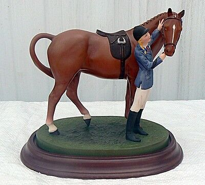 "BRITISH HORSE SOCIETY Franklin Mint ""FIRST PRIZE"" Porcelain Figurine 1987"