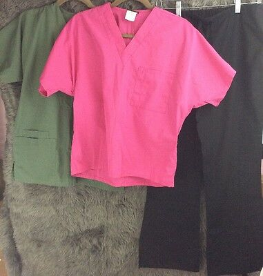 Mixed Lot of Scrub Tops Bottom Pants Women's Size XS Cherokee Pink Black Green
