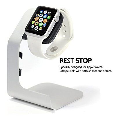 Apple Watch Stand Charging Stand Aluminium for 38mm & 42mm Apple Watch Silver