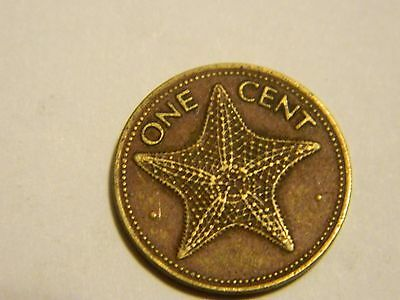 1974 Bahamas 1 One Cent Starfish Coin ----Lot #2,129