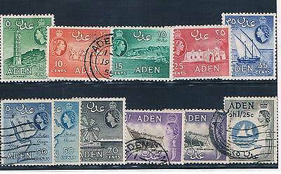 Aden - British Colonial - Set Of 5 Old Stamps Mh & 6 Used ( Aden 5 )
