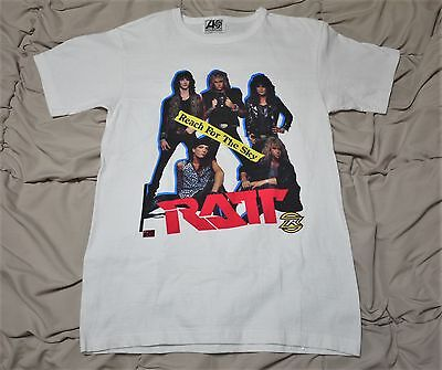 Ratt Reach For The Sky 1988 Rare Vintage Shirt With Hand Signed By Bobby Blotzer