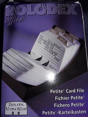 """NEW ROLODEX 2 1/4"""" x 4 in. Card File"""