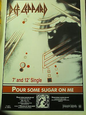 Def Leppard Pour Some Sugar on me Single Advert Page from Kerrang Magazine