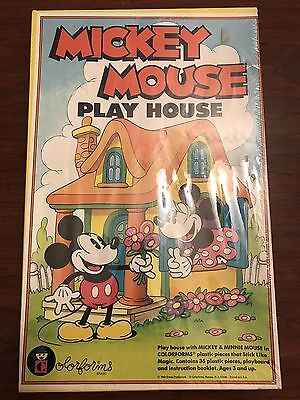 Vintage Mickey Mouse Play House Colorforms Set New Sealed Disney