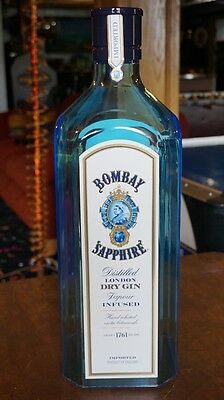 Bombay Sapphire Dry Gin Large Display Bottle Excellent Condition