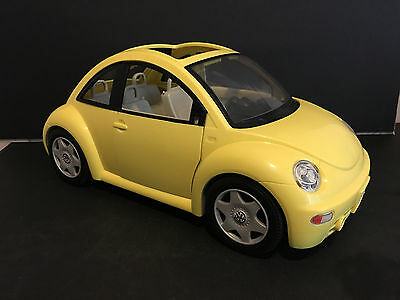 "Barbie VW Volkswagon Beetle Yellow Car - 16"" long #688"