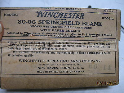 SCARCE Pre-War Seal Intact Winchester 30-06 Blank Ammo Bx storage tray DAD gift