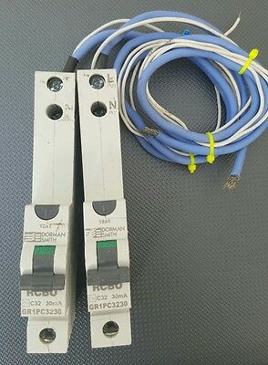 dorman smith GR1PC3230 30mA RCBO 32A 32AMP FULLY TESTED