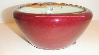 Antique Chinese Flambe Glazed Porcelain Bowl