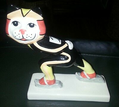 Lorna Bailey OLYMPIC SKATER CAT FREE P&P Excellent condition %