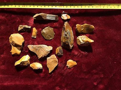 Neanderthal Stone Tool Artifact Collection 100% Authentic *EXTREMELY RARE*